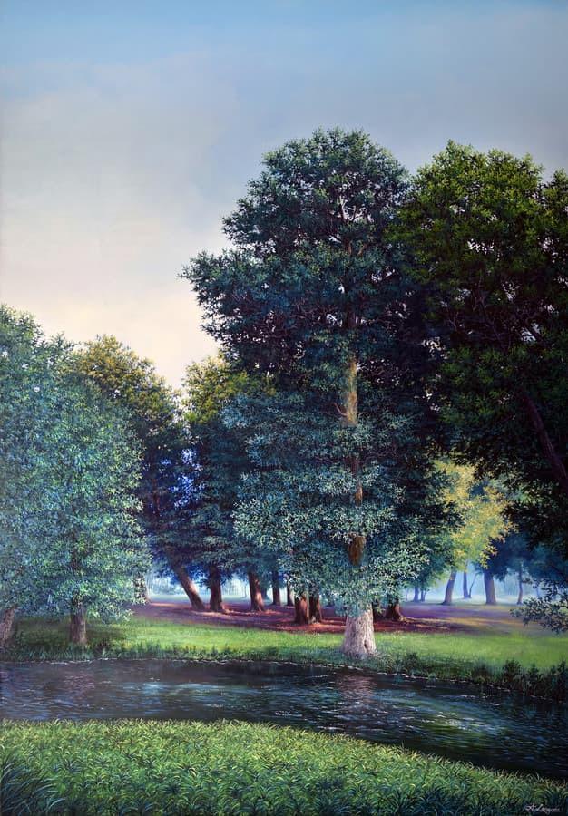 """""""Vasaros diena"""" Paveikslas tapytas ant drobės, aliejiniai dažai, dydis 100x150cm (NEPARDUOTAS)"""