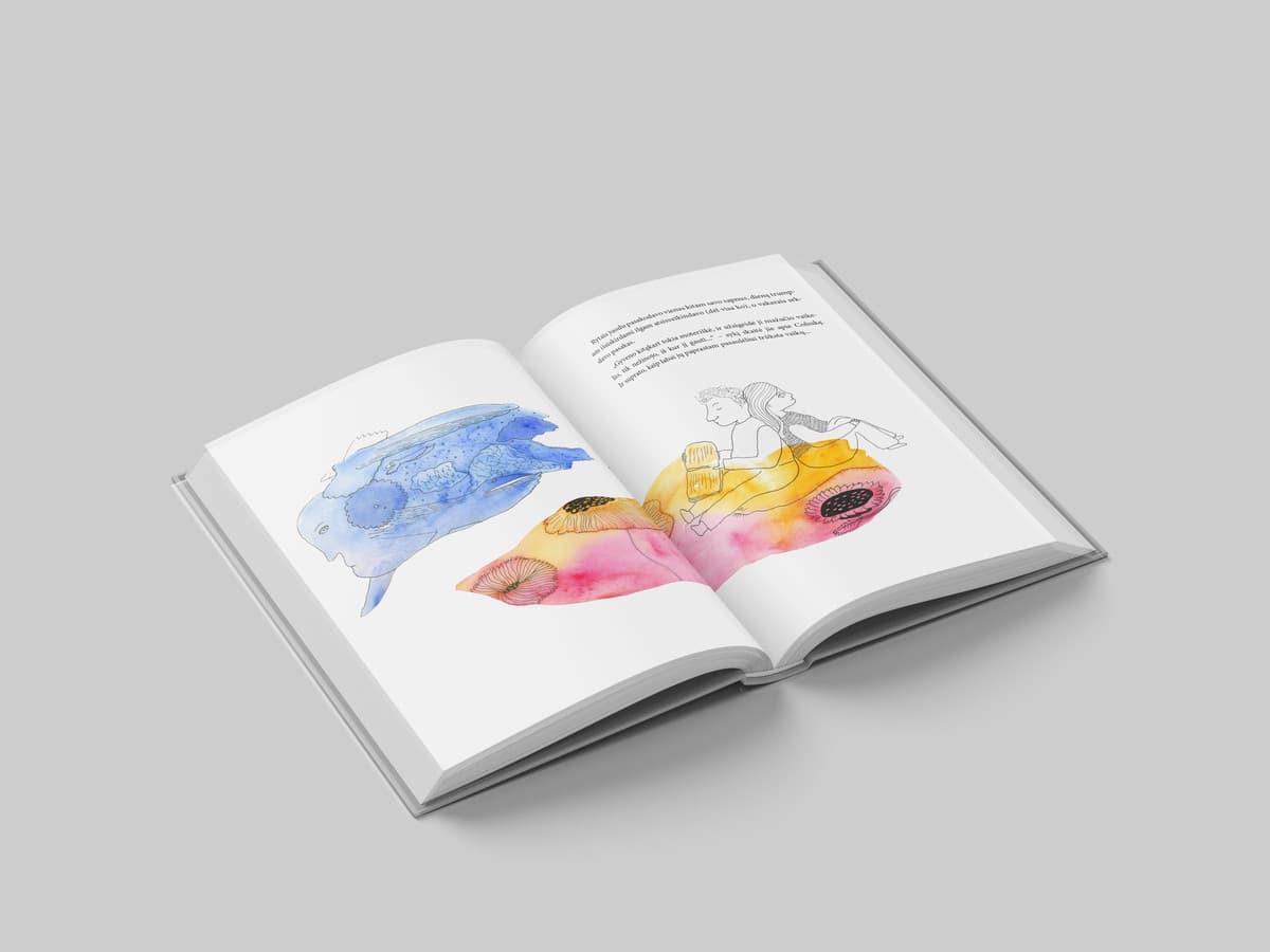 Pasakos iliustracijos ir maketas