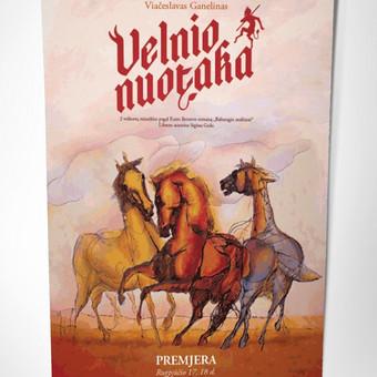 """Miuziklo """"Velnio nuotaka"""" afiša. Galiu sukurti plakatą renginiui, reklaminį plakatą ar renginių programos plakatą / Kaina nuo 99 eur už projektą / Grafikos dizaineris - www.baltaideja.lt"""