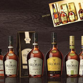 Atnaujintos GLORIA brendis etiketės | Updated GLORIA brandy labels