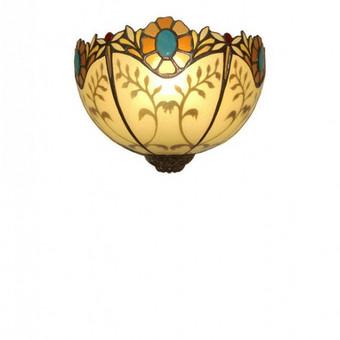 Sieninis rankų darbo stiklo šviestuvas