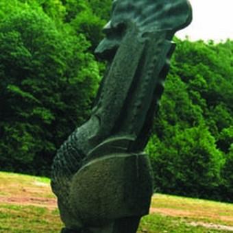 Mėlynasis Briuselio akmuo (petit granit) Alfridas Pajuodis
