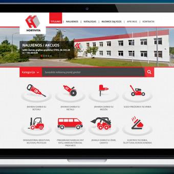 www.hortivita.lt  Dviejų tinklalapių ir pirminio puslapio dizainas įmonei užsiimančiai irankių nuoma ir viešbučių renovacija