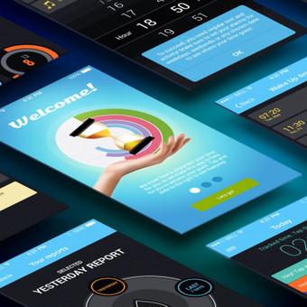 Aplikacijos dizainas. https://itunes.apple.com/us/app/tempureti/id983526664?ls=1&mt=8