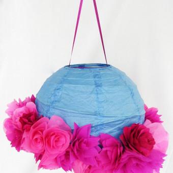 Rožinis gėlėtasis burbulas. Daugiau informacijos čia: http://www.vestuvinesdekoracijos.lt/ro
