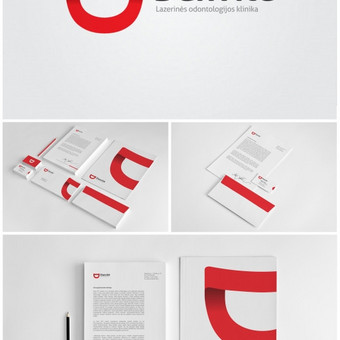 """Lazerinės odontologijos klinikos """"Danvitė"""" logotipas, bei spaudos darbai. Įmonės įvaizdžio ( branding ), stiliaus knygos ( brandbook ) ir prekės ženklo aprašymų kūrimas / www.baltaideja.lt"""