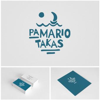 """Baro Juodkrentėje """"Pamario takas"""" logotipas, vizitinės bei meniu. Įmonės įvaizdžio ( branding ), stiliaus knygos ( brandbook ) ir prekės ženklo aprašymų kūrimas / www.baltaideja.lt"""