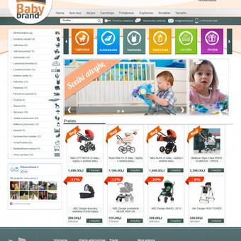 Internetinės parduotuvės dizaino nupiešimas ir sukodavimas