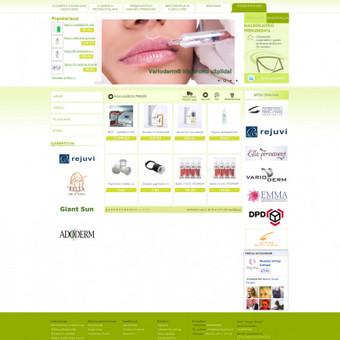 Sukurta elektroninė parduotuvė.