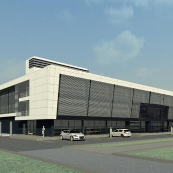 """3D vizualizacijos pavyzdys. Prekybos centras. Užsakovas - UAB """"A405"""" architektai"""
