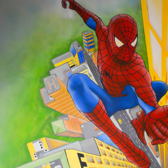 """Spider Man"" berniuko kambaryje."