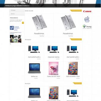 Dizaino sukodavimas interntinės parduotuvės platformai
