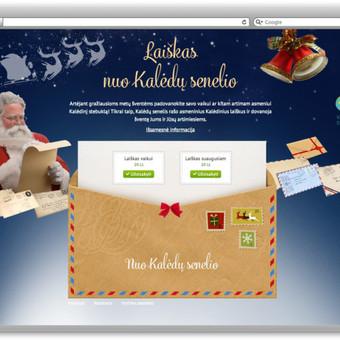Kalėdinių sveikinimų užsakymų svetainė