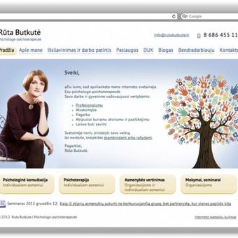Psichologės psichoterapeutės reprezentacinė svetainė