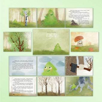Vaikiškos knygos maketavimas bei iliustracijos.  Pilna knygos interaktyvią versiją galite pamatyti čia : http://issuu.com/juozenaitevismante/docs/2015_03_02_interactive