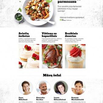 """""""Yzy kitchen"""" - lengvos stilistikos svetainė apie maisto gaminimą.  Daugiau darbų  → http://www.andriusdesigner.com/"""