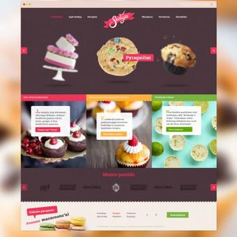 """Užduotis buvo sukurti skanią ir įsimenamą svetainę, suteikiant įmonei solidų ir patrauklų įvaizdį. """"Seduja"""" gamina įvairius tortus, pyragus ir kitus konditerinius gaminius.  Daugiau apie šį projektą  → http://www.andriusdesigner.com/"""