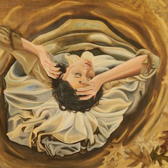 """""""Pabudimas"""" aliejus drobė 80*90 cm. paveikslas gimęs iš fotosesijos: https://www.facebook.com/media/set/?set=a.232024383662316.1073741832.176769952521093&type=1 """"Siela - kaip mėnuo. Ji turi nema ..."""