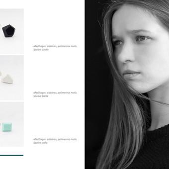 MUNE Design / Black label auskarai.  Medžiagos: sidabras, polimerinis molis. www.mune.lt