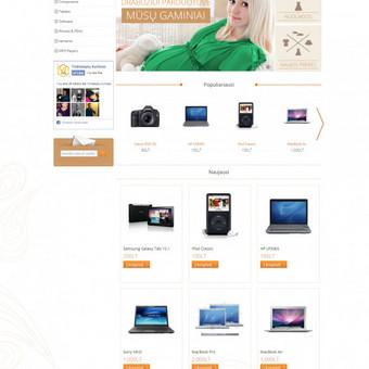 Sukurta elektroninė parduotuve lemari