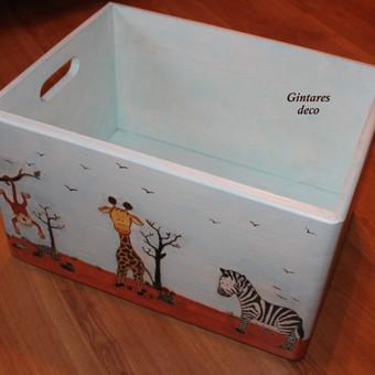 Vaikiška didelė daiktadėžė-žaislų dėžė