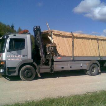 Medienos gaminių gabenimas