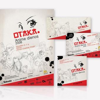 "Anime festivalio ""Otaka"" logotipas ir firminis stilius.  |UAB ""Visetas""|"