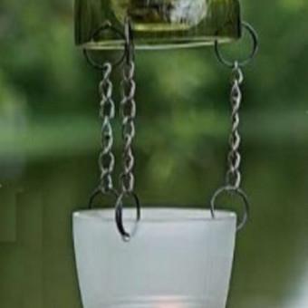 Originalios interjero detalės iš perpjautų stiklinių butelių / Romanas RAnamai / Darbų pavyzdys ID 24179