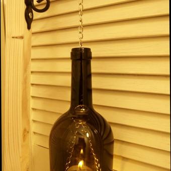 Originalios interjero detalės iš perpjautų stiklinių butelių / Romanas RAnamai / Darbų pavyzdys ID 24182