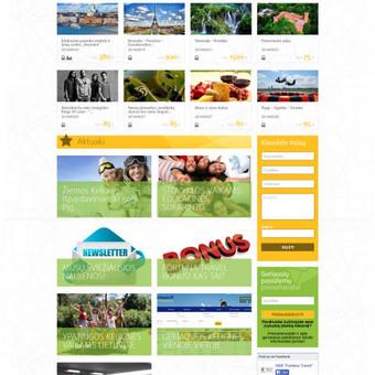 Sukurtas kelionių portalas, unikalus dizainas, pritaikytas prie WordPress TVS, pritaikytas mobiliesiems įrenginiams.
