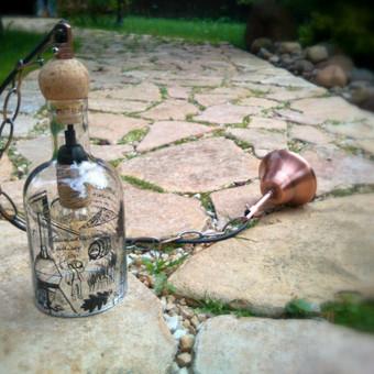 Originalios interjero detalės iš perpjautų stiklinių butelių / Romanas RAnamai / Darbų pavyzdys ID 27865