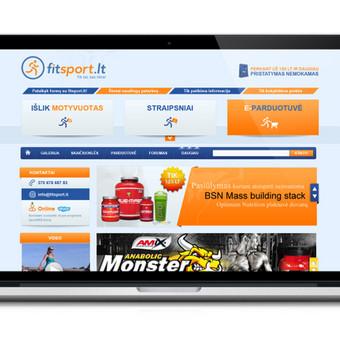 Fitneso puslapio dizainas. Peržiūra: http://webdizainai.lt/klientozona/FITSPORT/