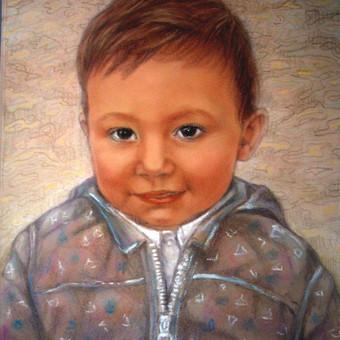 Berniuko portretas./Pastelė/CANSON POPIERIUS.