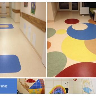 Vaikų ligoninė - Viešosios įstaigos Vilniaus universiteto ligoninės, Santariškių klinikų filialas. Grindų danga - Tarkett Optima IQ.