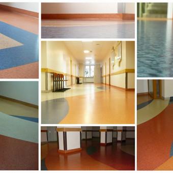 Štai taip atrodo Zarasų ligoninės grindys dabar. Grindys įrengtos prieš 9 metus! Grindų danga - Forbo Eternal.