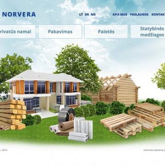 Norvegijos statybos kompanijos svetainė