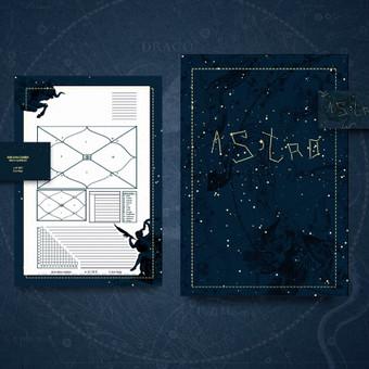 Individualaus firminio stiliaus dizainai astrologei.