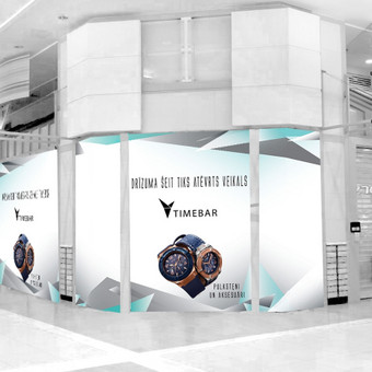 Timebar parduotuvės Latvijoje įvaizdžio pristatymas