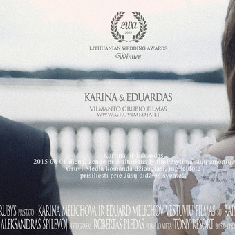 Gruvi Media komanda sveikina Kariną ir Eduardą ir pristato jų vestuvių filmo anonsą. DoP: Vilmantas Grubys; 2 Operatorius: Raimonda Juozevičiūtė; 3 Operatorius: Jovilė Imbrasaitė; Cerem ...