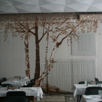 2012., Elektrenu reabilitacine ligonine, valgyklos dekoras. Dizaineres Astos ideja.