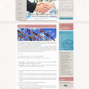 Sukurtas reprezentacinis puslapis, unikalus dizainas, mokėjimų sistema, daugiakalbystės modulis, pritaikyta prie WordPress TVS.