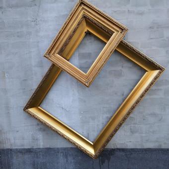 Aukso spalvos rėmai fotosesijai ir dekorui Daugiau informacijos www.baltastudija.lt