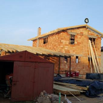 Naujo stogo statyba