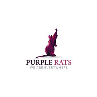 PurpleRats- we are everywhere PARDUODAMAS  |   Logotipų kūrimas - www.glogo.eu - logo creation.