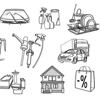 """""""Puiki švara"""" iliustracijos - ikonėlės internetinei svetainei.  © Tatjana Iljina"""