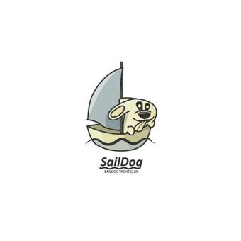 SailDog - yacht club, laisvas logotipas, PARDUODAMAS    |   Logotipų kūrimas - www.glogo.eu - logo creation.