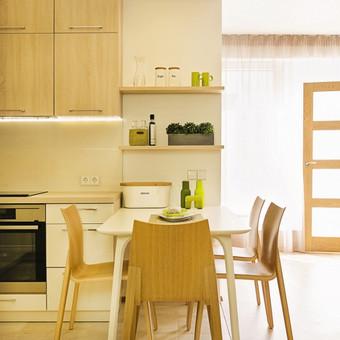 Virtuvės baldų išdėstimas. Palanga. 2015 m.