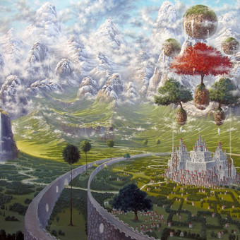 """""""Karalystė"""" Paveikslas tapytas ant drobės aliejiniais dažais, dydis 160x110cm. (PARDUOTAS)"""