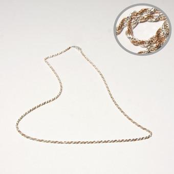 Paauksuota sidabrinė grandinėlė