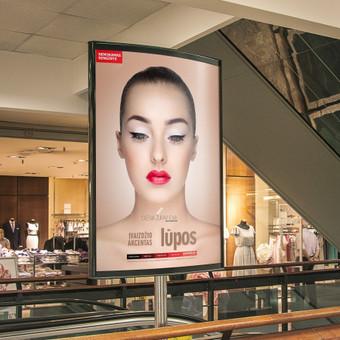 Makeup event ad. Client: Olesia Žuravliova Photographer: Ilja Sivakoff Model: Grėtė Raudytė